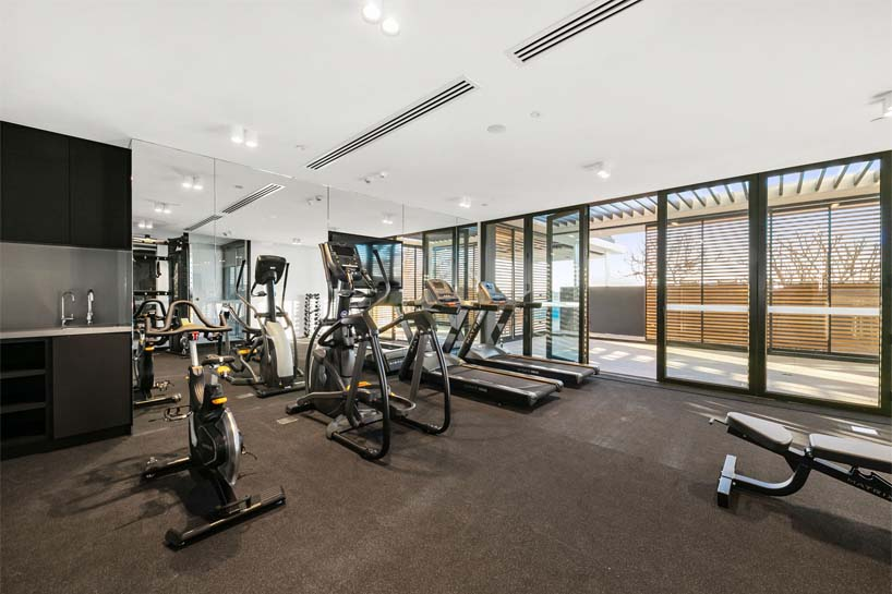 air-conditioned gym with state-of-the art fitness equipment